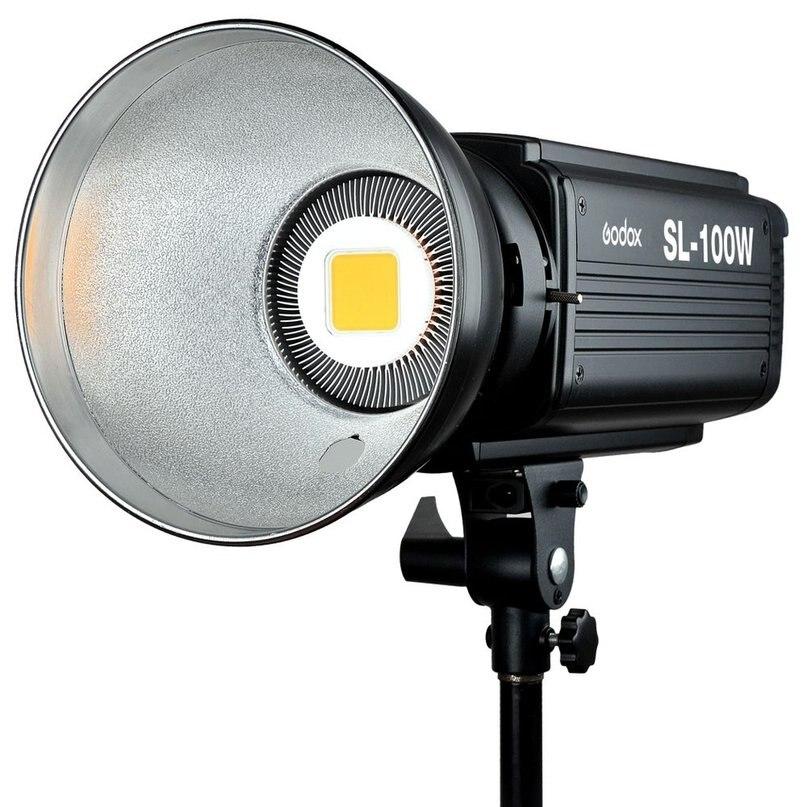 Godox SL100W 5600K AC 100 ~ 240V 50/60Hz 16 canaux Studio continu LED lampe vidéo lampe Bowens Mount