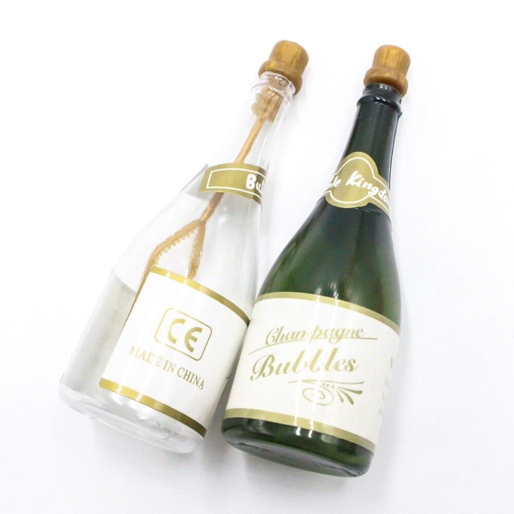 Botella de champán DIY, botella para burbujas con forma de botella de champán para cumpleaños, boda, fiesta, recuerdo, auto-riego 10 Uds.