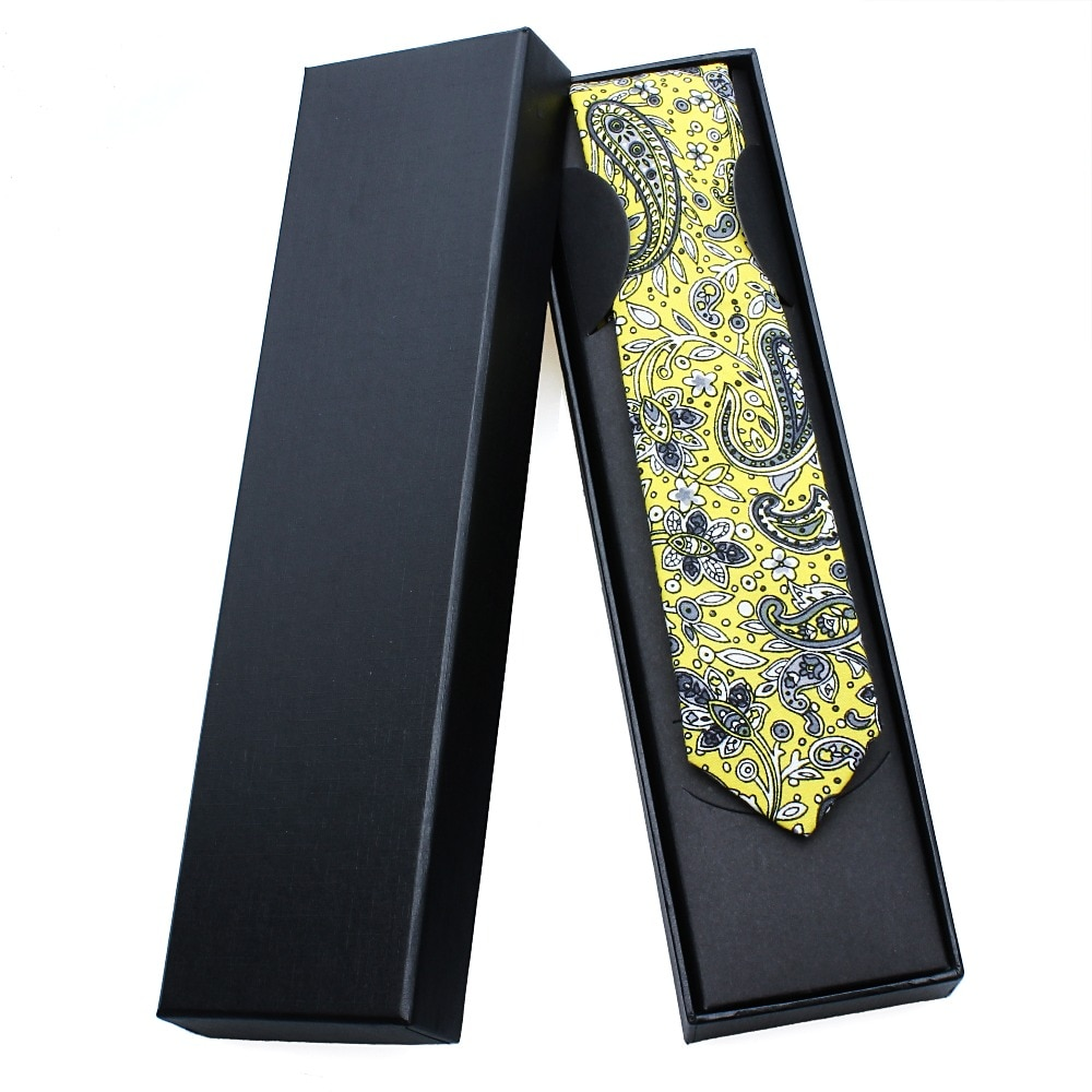 HAWSON Men Paisley Necktie Fashion Floral Polyester 2 Inch Width Slim Ties For Gentlemen Party Business Clothing Accessory