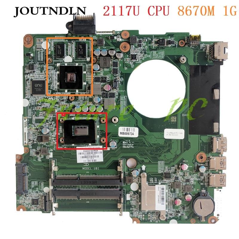 JOUTNDLN FOR HP Pavilion 15-N laptop motherboard 737983-001 737983-501 DA0U81MB6C0 HM76 W/ 2117U CPU 8670M 1G Test work