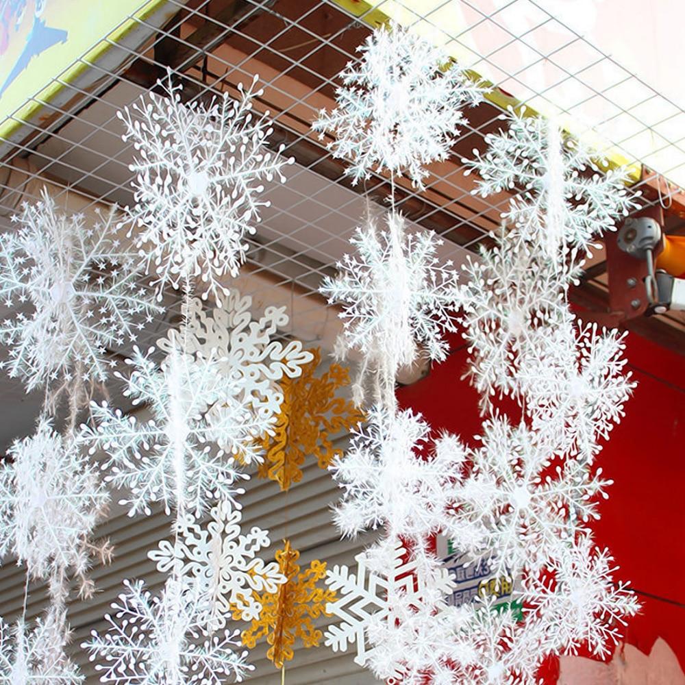 30 piezas Navidad copo de nieve ventana pegatina invierno pared pegatinas niños habitación Navidad decoraciones para el hogar Año Nuevo pegatinas