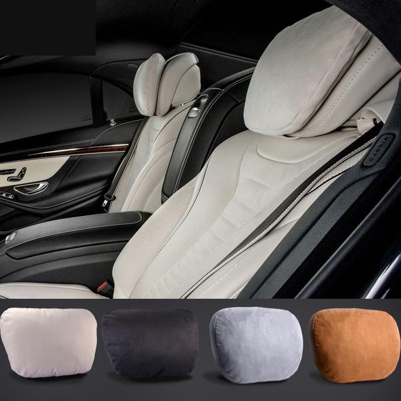 Maybach diseño S Clase S Ultra suave natural coche reposacabezas cuello asiento cojín reposacabezas cubiertas para mercedes-benz BMW Audi Toyota Honda