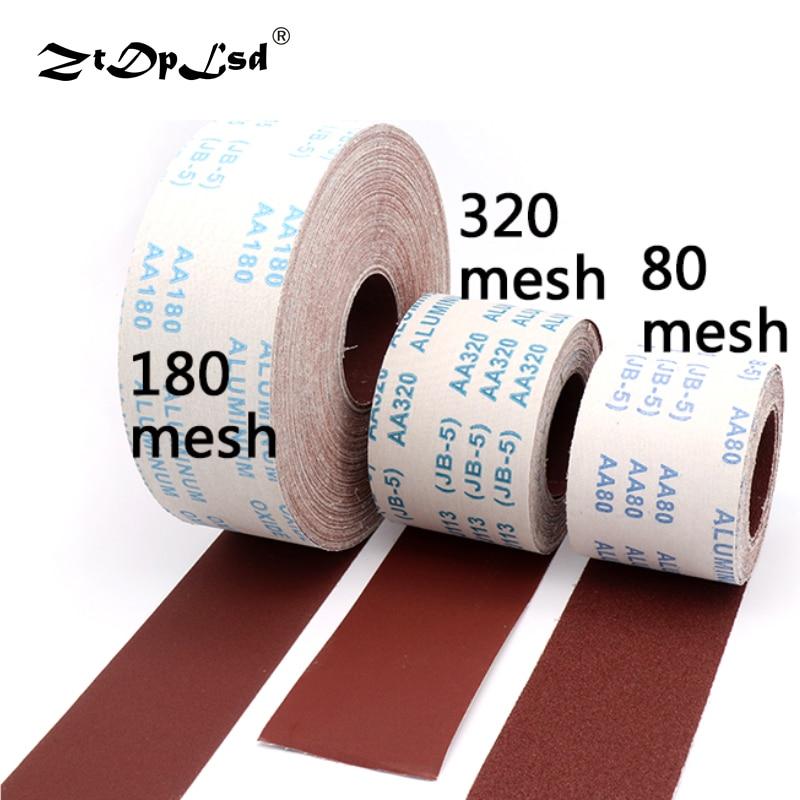 1メートル80-600グリットエメリークロスロール研磨サンドペーパー、研削工具金属加工および木工用Dremel