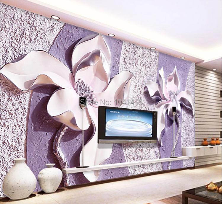 Niestandardowe Zdjęcia Tapety Stereoskopowe 3D Kwiaty Salon Sofa Tło Tapeta Nowoczesna Home Decor Pokoju Krajobraz Malowidła Ścienne 9