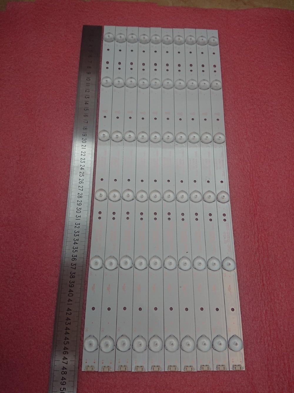 Novo conjunto = 50 5 pcs 6LED 480 milímetros tira conduzida luz de fundo para LC490DUJ-SHA2 5800-W49001-1P00 5800-W49001-2P00 0P00 DP00 5850-W50007-1P00