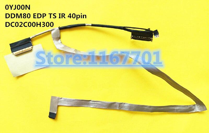 Nuevo ordenador portátil/ordenador portátil LCD/LED/LVDS cable para Dell Latitude 5590 E5590 precisión M3530 0YJ00N DDM80 EDP TS IR 40pin DC02C00H300