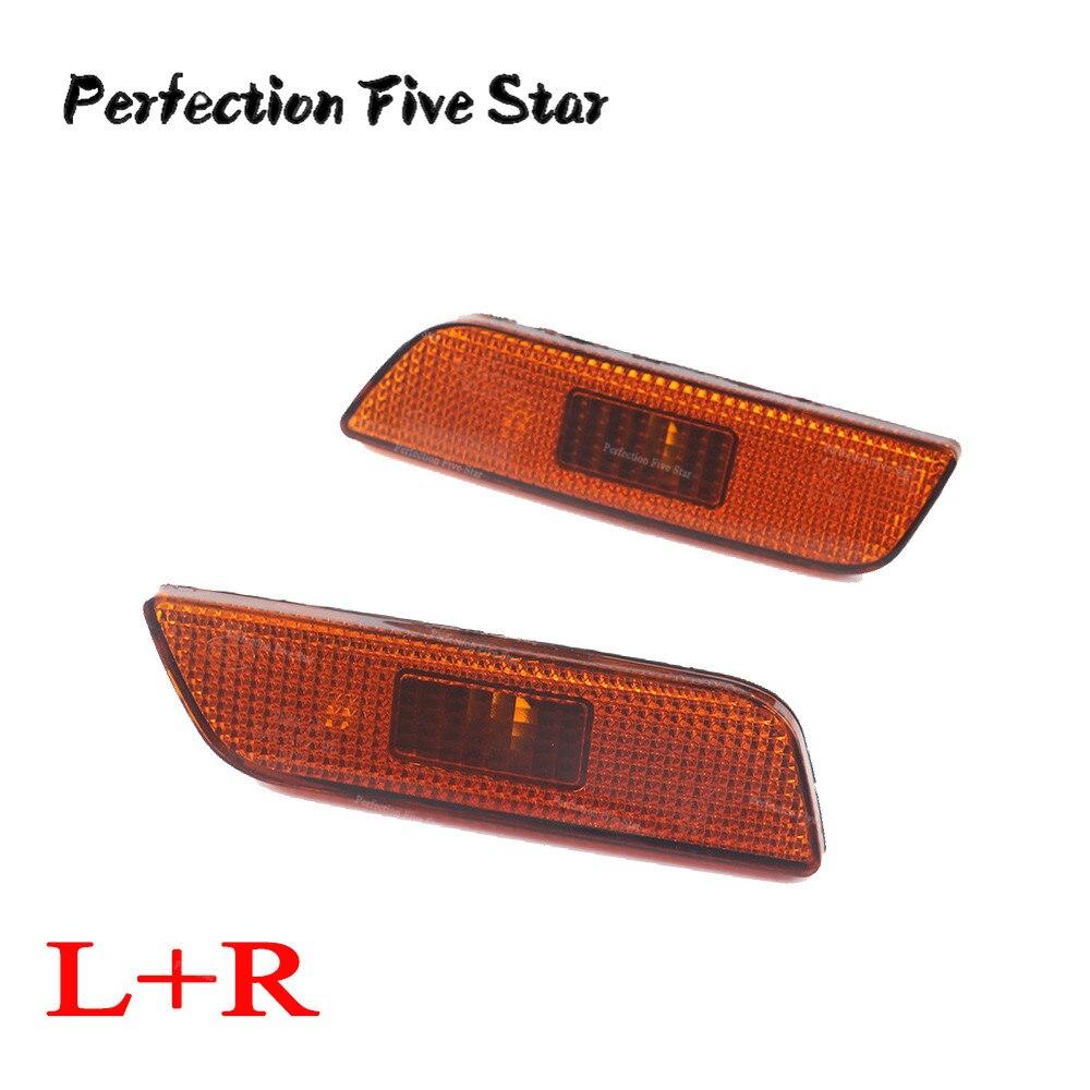 Front Right Left Side Marker Turn Signal Indicator Lamp Light Lens For Volvo S80 2002 2003 2004 2005 2006 30744361 30744361