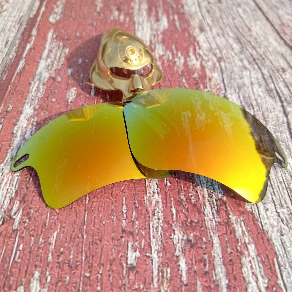 Glintbay 100% lentes polarizadas de repuesto de ajuste preciso para Oakley Fast Jacket XL gafas de sol-Fire Red Mirror