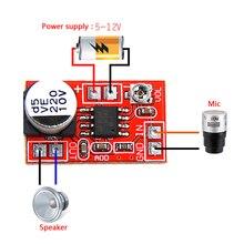Micro amplificador de electreto DC de alta calidad, 5V-12V, condensador de micrófono, Mini placa amplificadora de micrófono