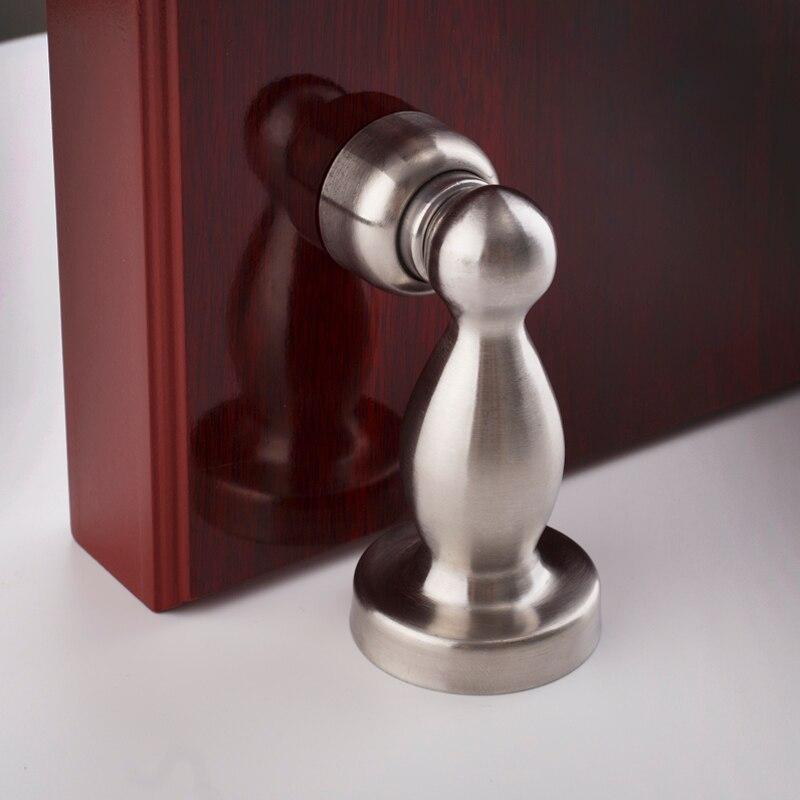 Матовый прочный магнитный дверной ограничитель из нержавеющей стали