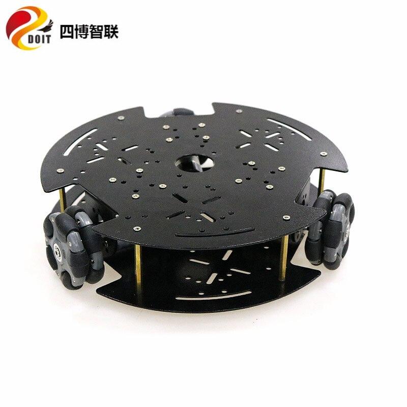 SZDOIT 58mm Nylon Omnidirectional Wheel Double Layer 3WD Metal Smart Robot Tank Car Chassis Kit 9V/12V DC Motor DIY For Arduino enlarge