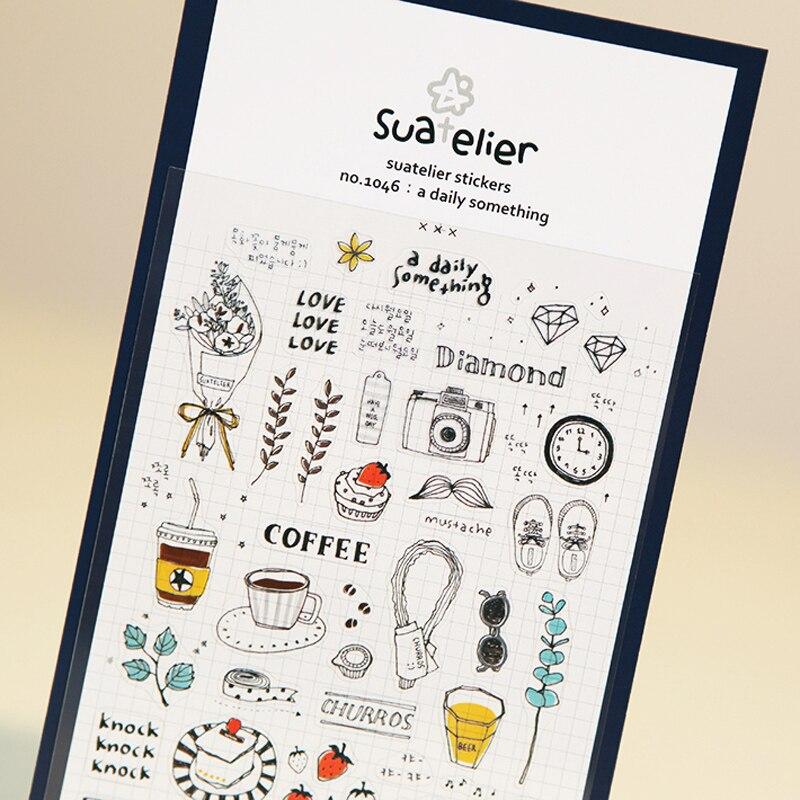 Бумажная наклейка SONIA для ежедневной жизни, сделай сам, дневник, украшения, альбом, скрапбукинг