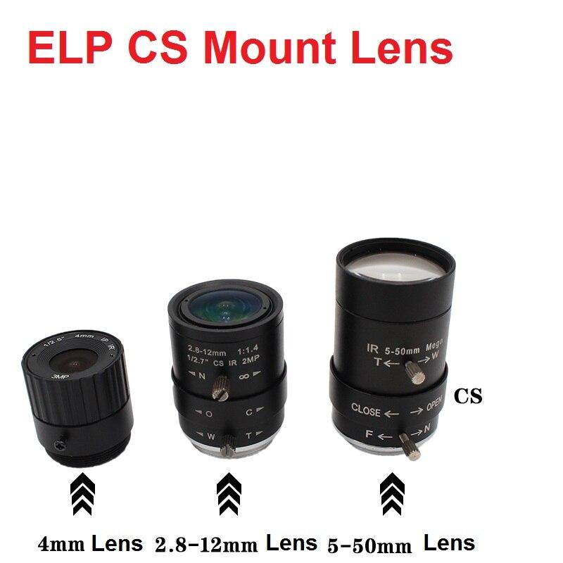 ELP Mount CS 2.8-12mm/5-50mm /6-60mm lente Varifocale Manuale 4/6/8/12mm CS obiettivo A Fuoco Fisso