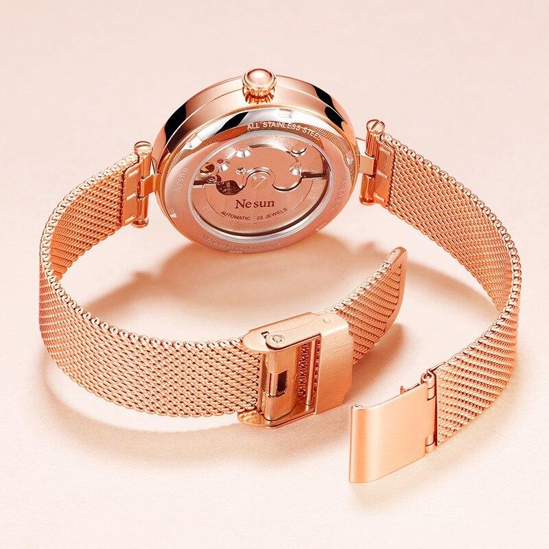Switzerland Luxury Brand Nesun Women Watch Japan Original Auto Mechanical Watches Waterproof Nice Steel Band Lady clock N9066-2 enlarge