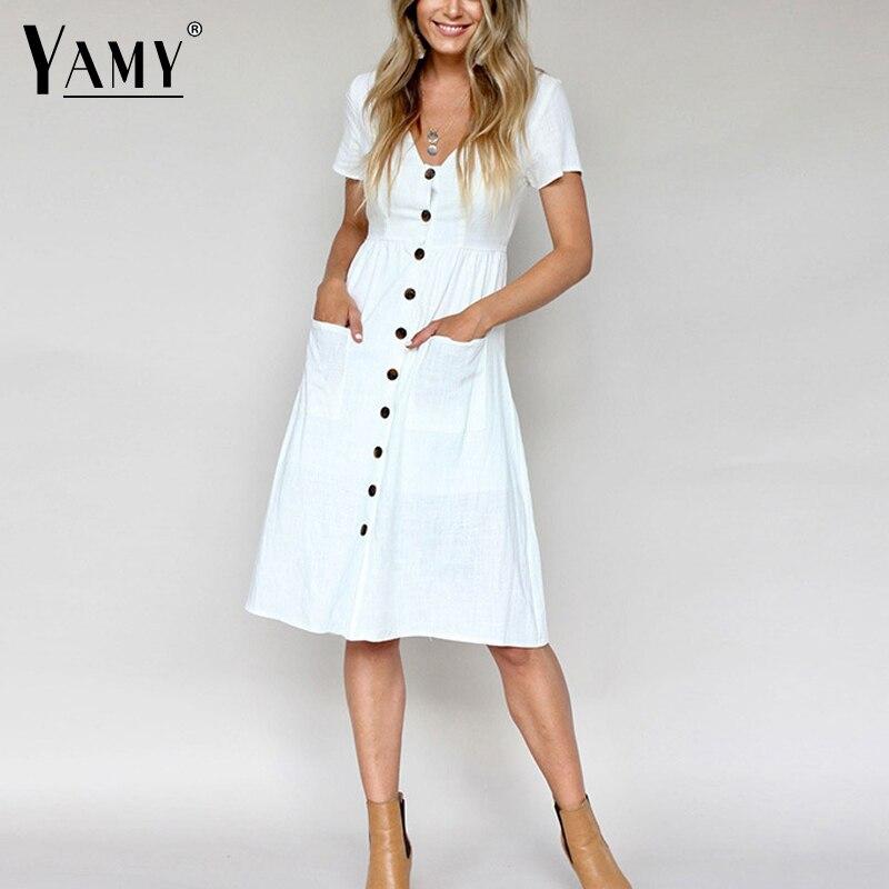 Белые Платья С Карманами
