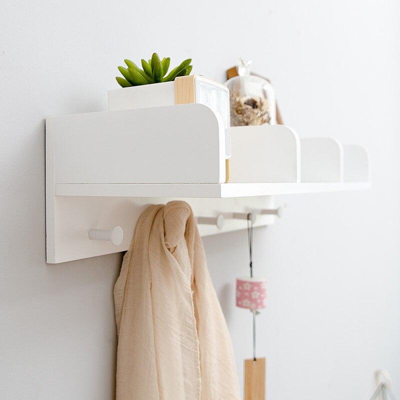 Colgador de madera maciza estilo Moda Nórdica para mueble o pared, estante de almacenamiento, estante para libros, ganchos de bolsas, estante para colgar en la pared