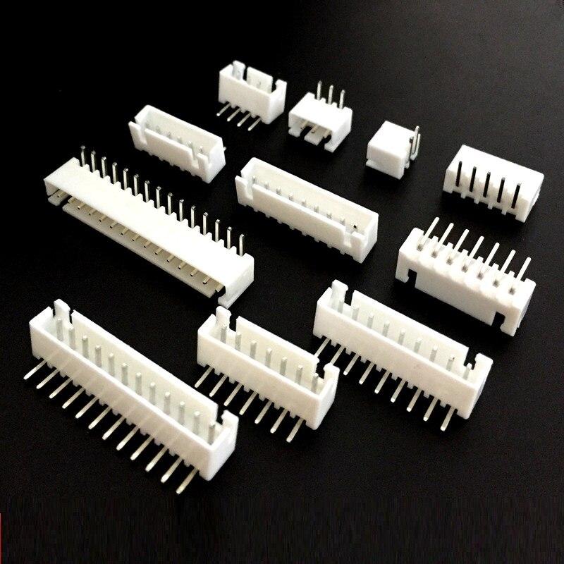 EziUsin XH-2.54 paso 2,54 MM conector 90 grados curva curvada aguja asiento hembra 2P 3P 4 P 5, P 6P 7P 8P 9P 10P 11P 12P XH2.54 AW