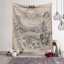 Tarot colgante sol estrella Luna tapiz Hippie tapiz para colgar en la pared alfombra de Yoga Mat decoración del hogar tapiz w3-new-LS-TLP