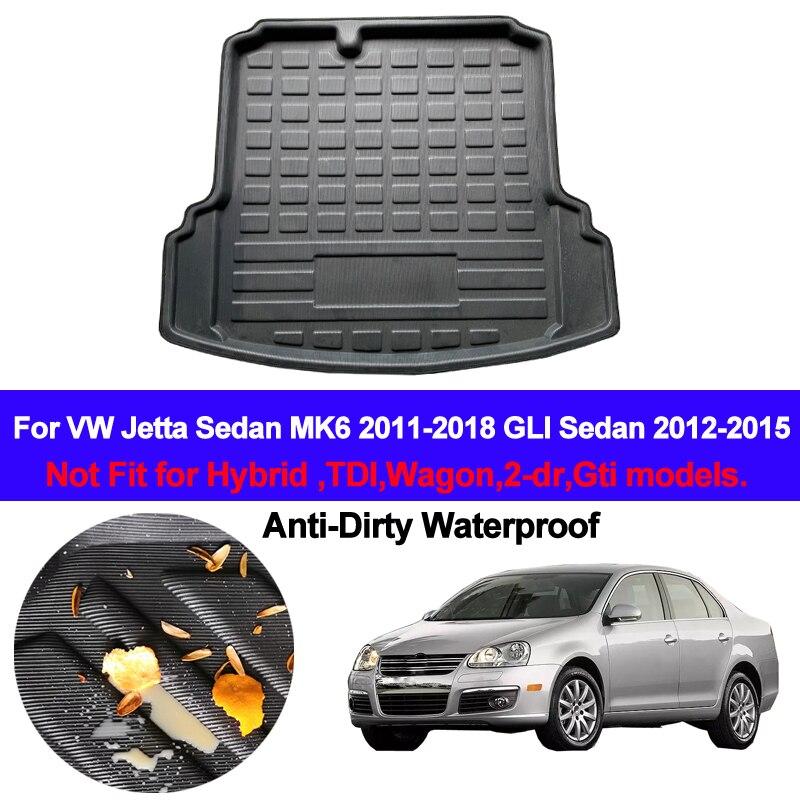 Maletero trasero de coche, forro de carga, bandeja, maletero, alfombra para el suelo, alfombrilla para VW Jetta Sedan 4-dr MK6 2011- 2014 2015 2016 2017 2018