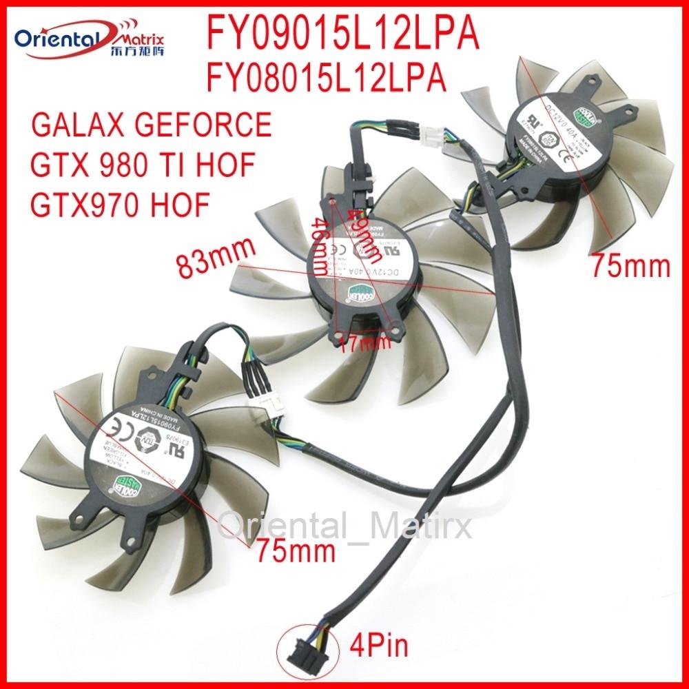 FY09015L12LPA FY08015L12LPA 12V 0.40A 4Pin 83 мм для GALAXY GEFORCE GTX 970 GTX 980 TI HOF охлаждающий вентилятор для видеокарты