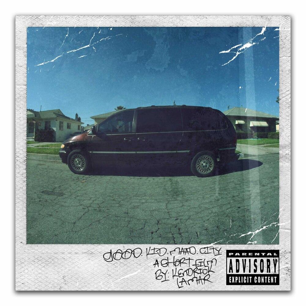 Z0458 Posters and Prints Kendrick Lamar Rap Hip Hop Music Ablum Good Kid Art Poster Canvas Painting Home Decor
