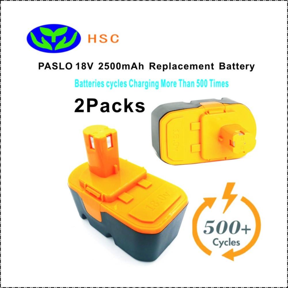 2 piezas PAS18A 2.5Ah 18 V NiMh batería de reemplazo de PASLO BPL-1815... BPL-1820G... BPL18151... BPL1820... P102... p103... P1048 batería Original