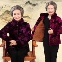 jackets winter womens middle aged womens grandma with gold velvet cotton mothers plus velvet thick cotton jacket