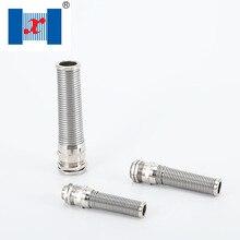 Presse à spirale Anti-flexion 10 pièces/lot   PG21 13-18mm Type Nickel métallique plaqué laiton glande de câble
