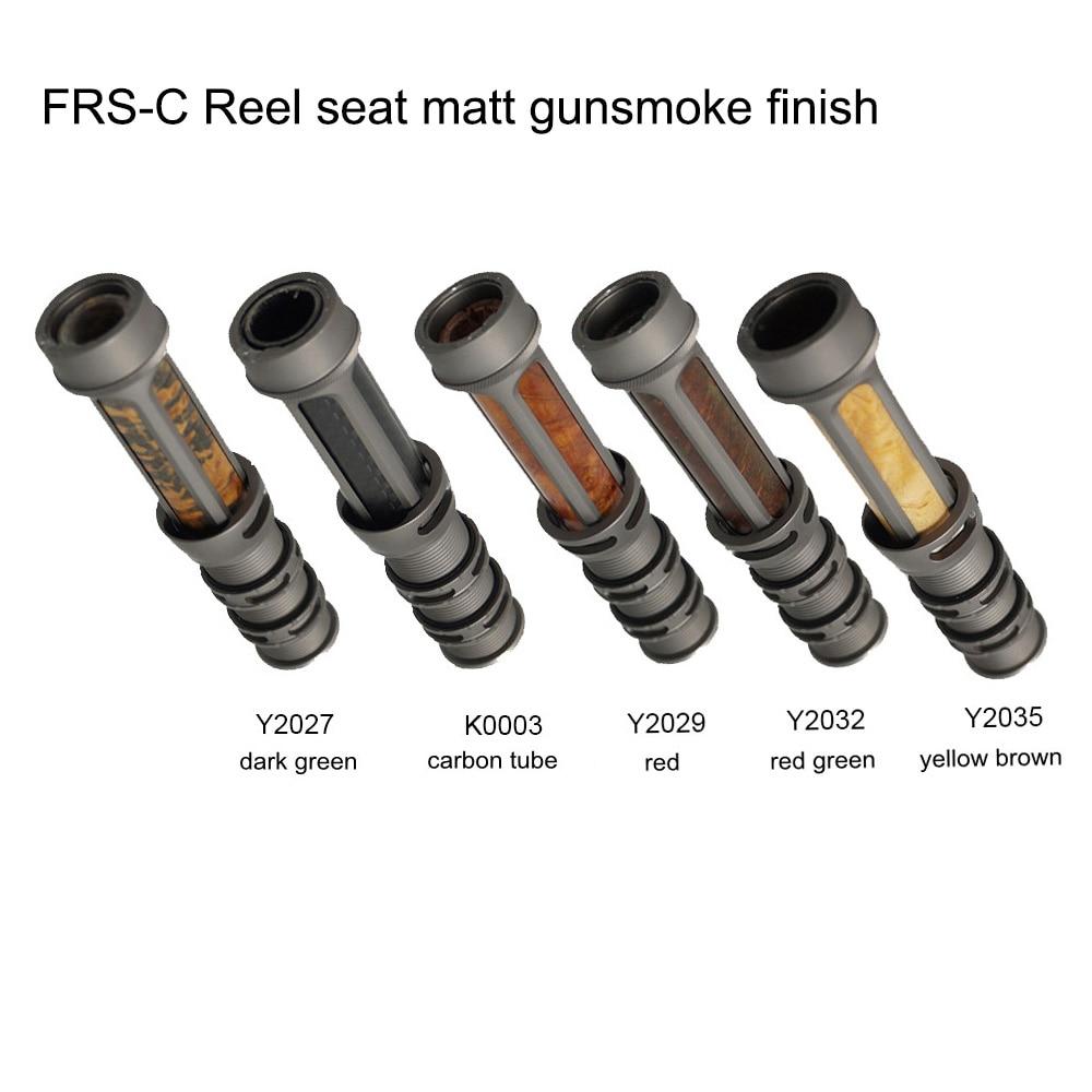 Riverruns CNC Machined Nature Stabilize Burl Wood Fly Rod Parts Accessory Reel Seat Fishing Reel Seat Gunsmoke DIY Fishing Rod