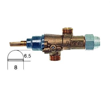 Газовый кран BERTO'S PEL Тип 20S газовый вход M16x1.5 (трубка 10 мм) 7989B 3 Запчасти для