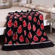 Japon, Anime Naruto Akatsuki   Molleton de corail doux et chaud, couverture en peluche, tapis, pièce canapé-lit, couvertures aux genoux 120x150CM