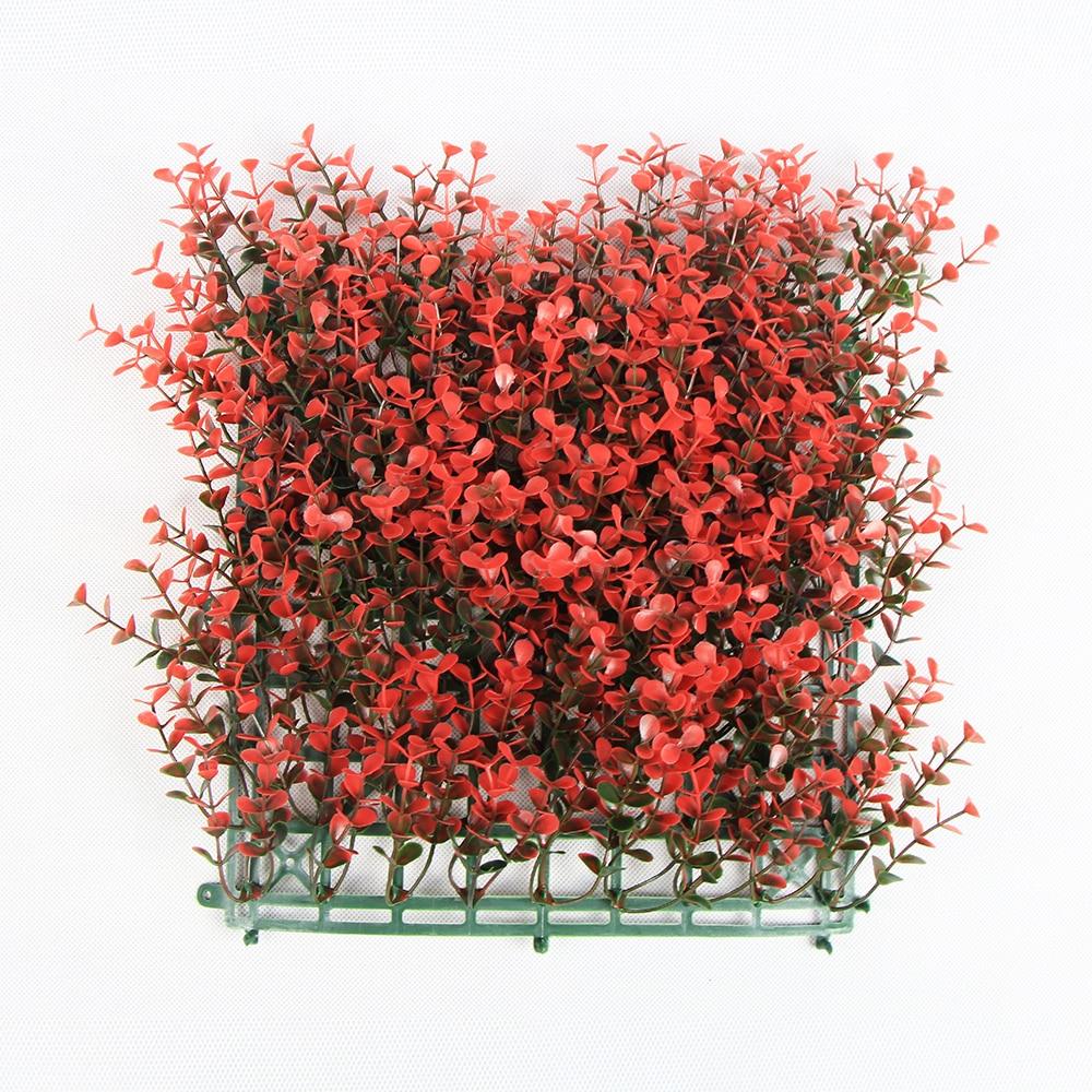ULAND, Panel de boj Artificial, setos de jardín, valla de plástico de 10x10 pulgadas, plástico a prueba de UV, decoración de tienda de balcón de boda