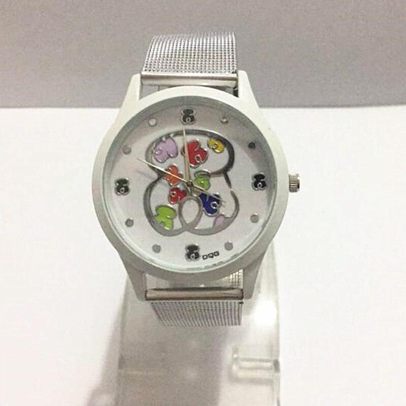 Часы женские кварцевые, люксовые брендовые модные с серебристым стальным сетчатым браслетом
