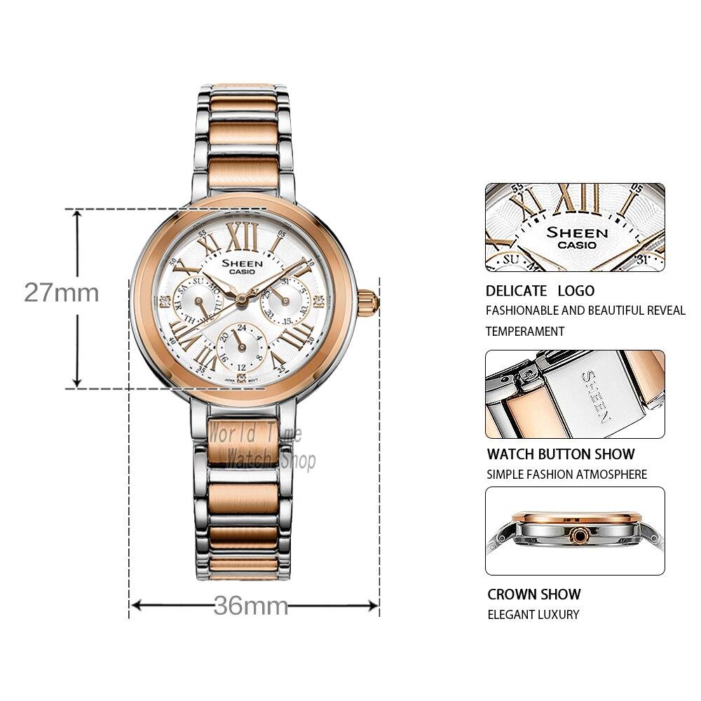 Casio watch Swarovski Crystal women watches top brand luxury set ladies watch women Waterproof Quartz wristwatch Sport clock enlarge