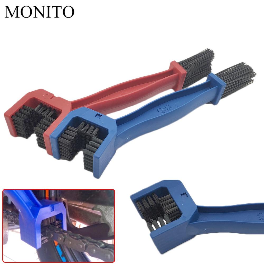 Motorcycle Chain Maintenance Cleaning Brush Cleaner Tool For SUZUKI RMZ250 RMZ450 DRZ400SM RMZ 250 450 DRZ 400 SM Z800 Blue/RED
