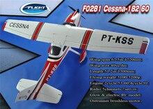 Modèle davion RC à aile fixe rouge et électrique de classe Cessna 60 de Cessna-182
