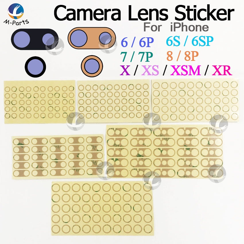 1 ~ 10pcs Cola Adesivo Dupla Face Para iPhone 6 6S 7 8 Plus X XS XR XSM max XSMax 8G Voltar Camera Lens Protector Quadro 3 Adesiva 3M