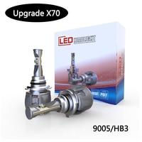 1 set 120w 15600lm LED Headlight CAR TURBO 6000K Double lens 9012 HIR2 hi/lo beam LED auto headlamp bulbs for car front light