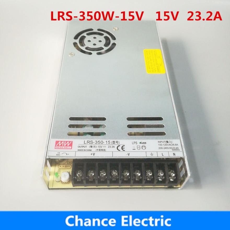 MEAN WELL original LRS-350-15 15V 23.2A meanwell LRS-350 fuente de alimentación conmutada de una sola salida de 15V