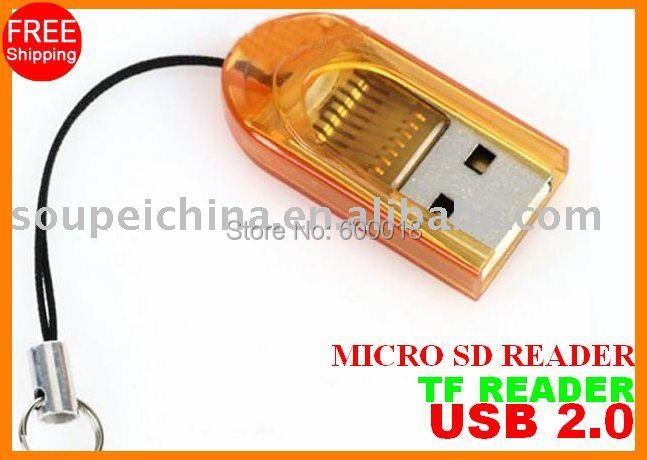 Envío gratis con número de seguimiento sd micro sdhc Tarjeta de lector de tarjetas TF SPTR002 1GB 2GB 4GB 8GB 16GB 32GB 64GB