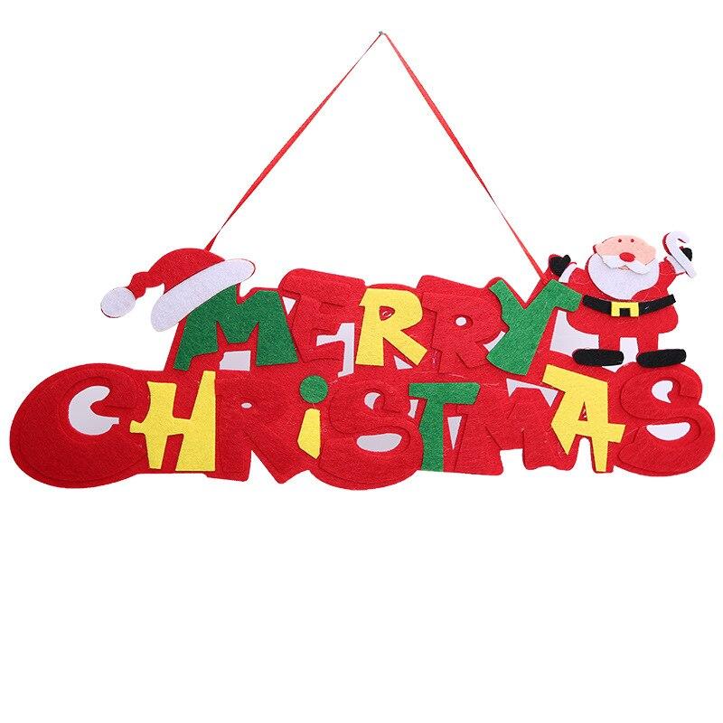 Новогодние DIY вечерние рождественские украшения для дома Рождественские почтовые карточки navidad двери вешалка английские тарелки weihnachten AB321