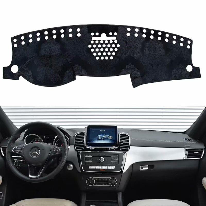 For Mercedes-Benz GLE GLS GL ML-Class W166 X166 250 350 400 2013-2018 Flannel Dashmats Dashboard Covers Dash Pad Car Mat Carpet