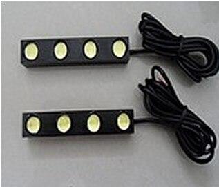 2pcs Waterproof 4LED Eagle Eye Lights Daytime Running Lamp Fog Light Rogue Reversing Lamp DRL