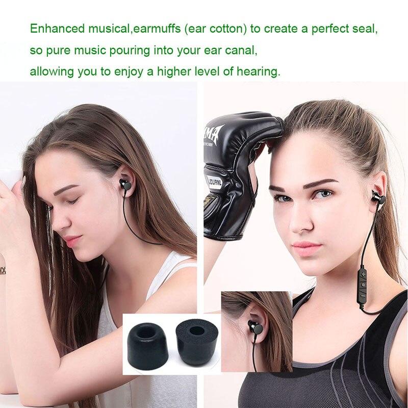 24pcs/12 pair T400 4.9mm headphones memory foam tips ANJIRUI original foam tips T500 ear pads for all headphones earbud headset enlarge