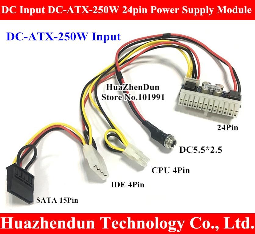 Entrada de CC DC-ATX-250W 24pin módulo de fuente de alimentación Swithc Pico PSU Auto Mini ITX de DC-ATX módulo de alimentación ITX Z1