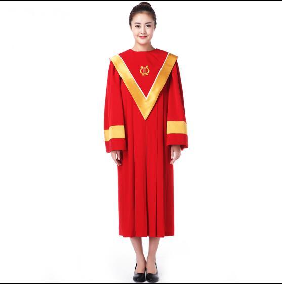 Vestido Rojo de coro iglesia cristiana, Túnica de clero, servicio de clase de poesía Holy