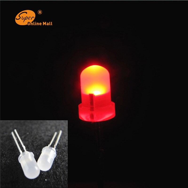 100 PZ LED ROSSO 5mm Diffusa HA CONDOTTO La Lampadina Urtal Luminoso della lampada led 5 MM Diodi Emettitori di Luce Lotti FAI DA TE KIT