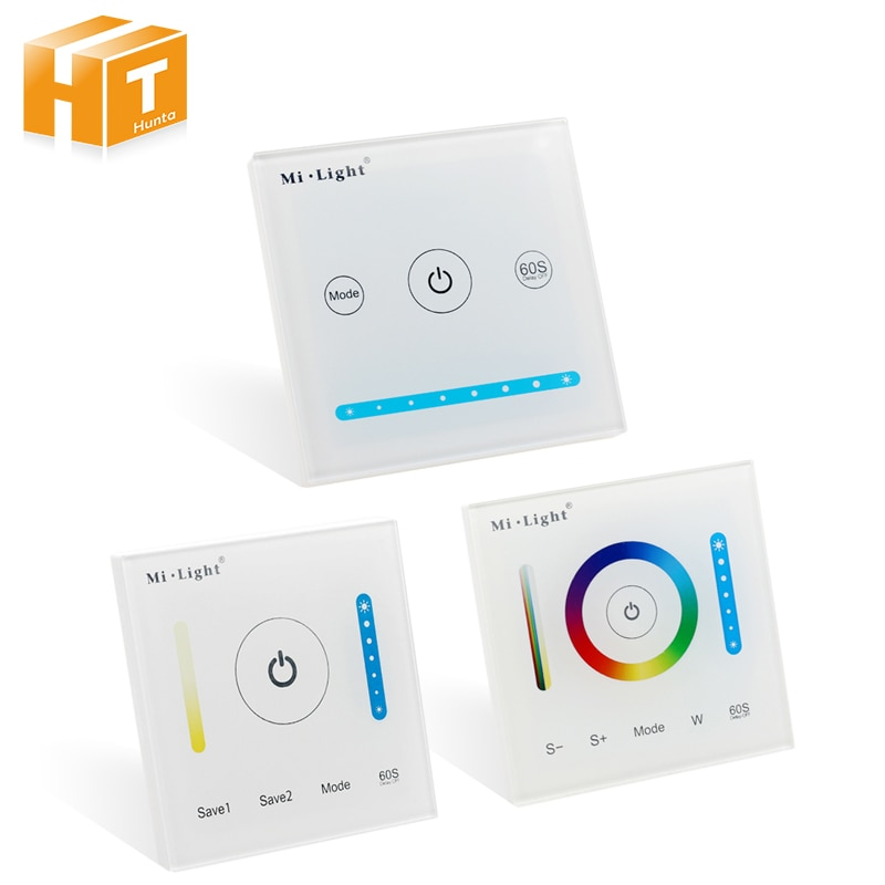 Mi light Smart LED Touch Panel Controller For RGB RGBW RGB+CCT / Double White / Single Color LED Lighting