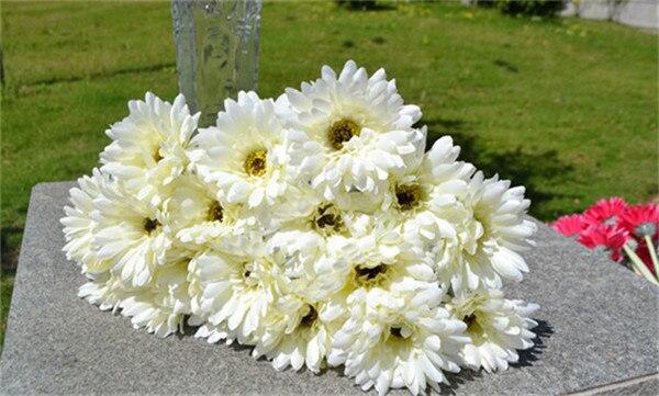 Gerber Africana Daisy flor 54 cm/21,56 pulgadas 100 piezas falso de girasol para la boda en casa de fiesta de Navidad decorativo Floral flores