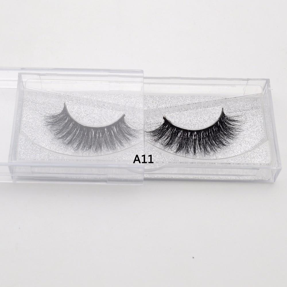 Visofree False eye lashes fake lashes long makeup  100% Handmade Thick Volume Long False Lash Makeup Giltter  3D Mink Lashes A11